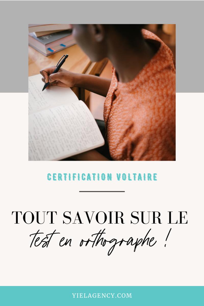 certification voltaire redactrice